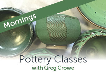 Morning Pottery Classes with Greg Crowe