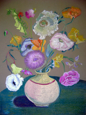 Poppies & Sweet Peas (Cedric Morris)