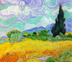 Wheatfield with Cypresses (Van Gogh)