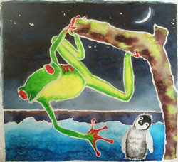 Tree Frog & Baby Penguin