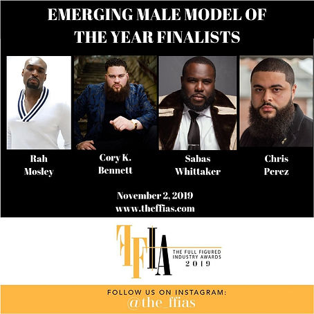 EMERGING MALE MODEL OF THE YEAR FINALIST