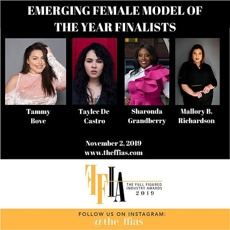 EMERGING FEMALE MODEL OF THE YEAR FINALI