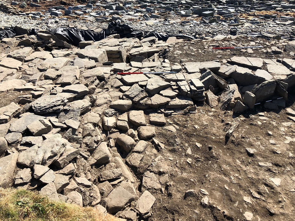 Cleaned up area with later buildings above tomb at Swandro