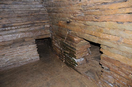 Interior of Cuween chambered tomb - a Maeshowe type tomb