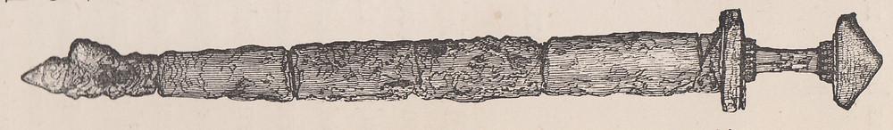 The Swandro Viking sword illustrated around 1834