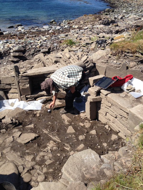 Smithy at Swandro, survey of the floor