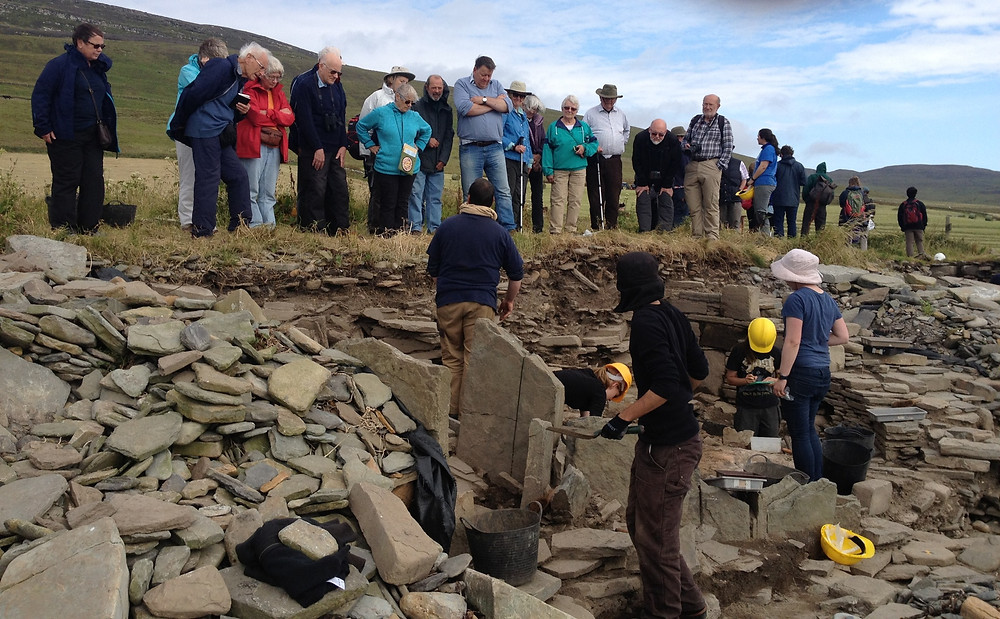 Open day at the Knowe of Swandro, Rousay, Orkney