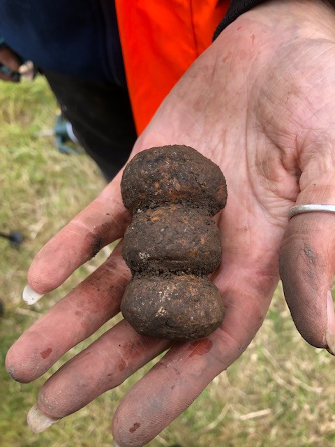 Mystery object made from antler found at the 2019 Swandro excavation