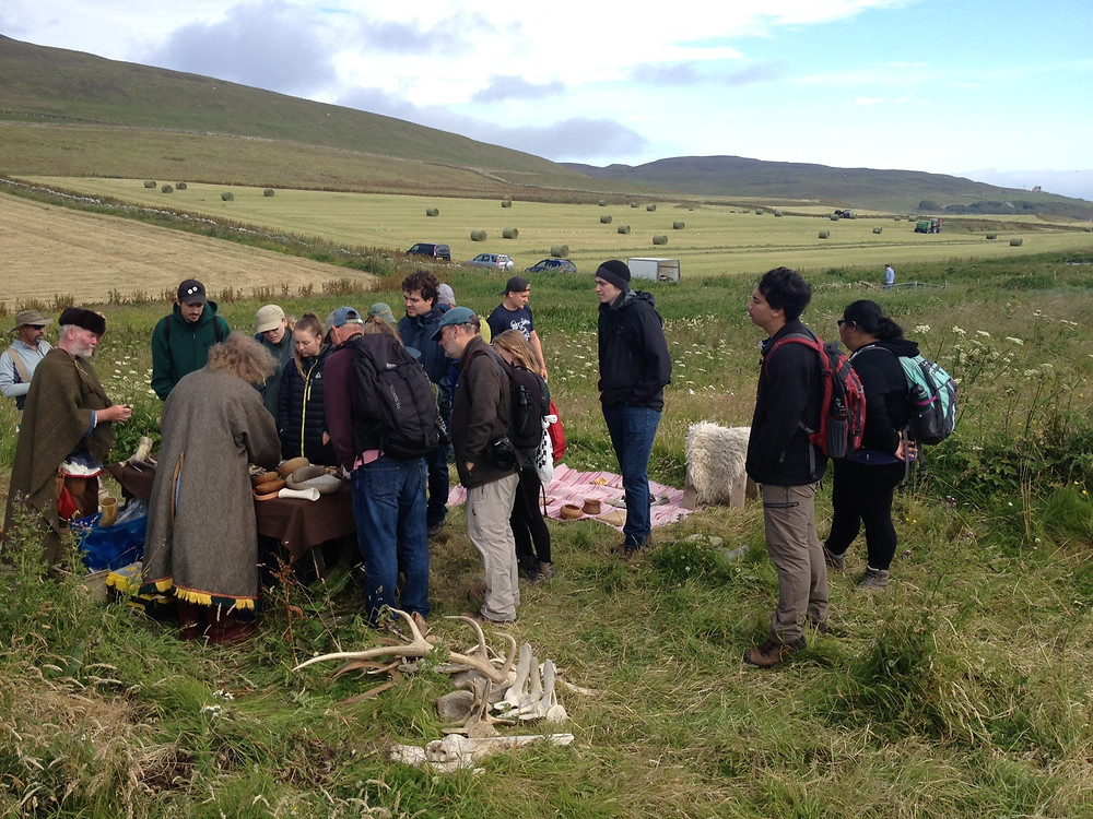 Viking re-enactors at the Swandro,Orkney open day