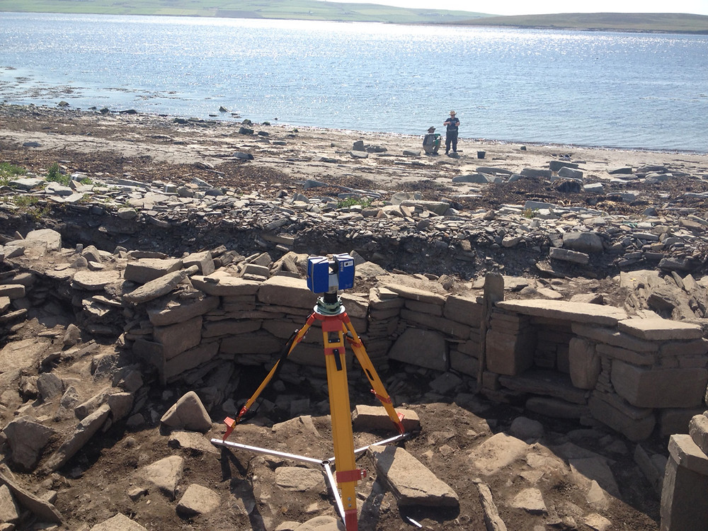 3-D laser scanning at Swandro, Orkney