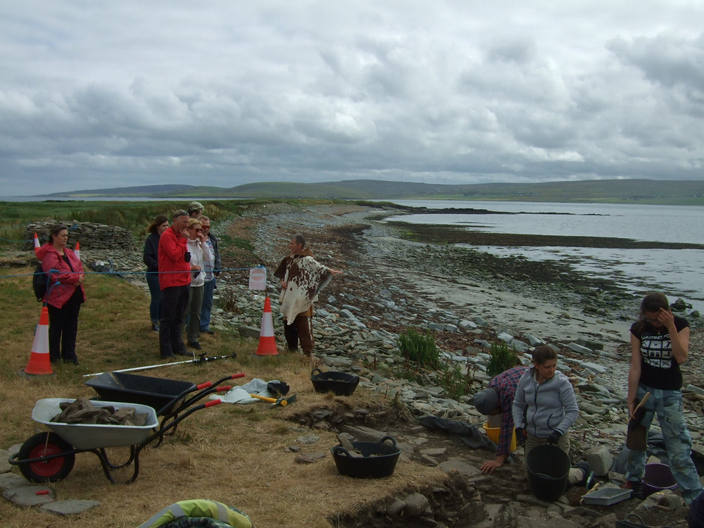 site tour from one of our Neolithic re-enactors at Swandro