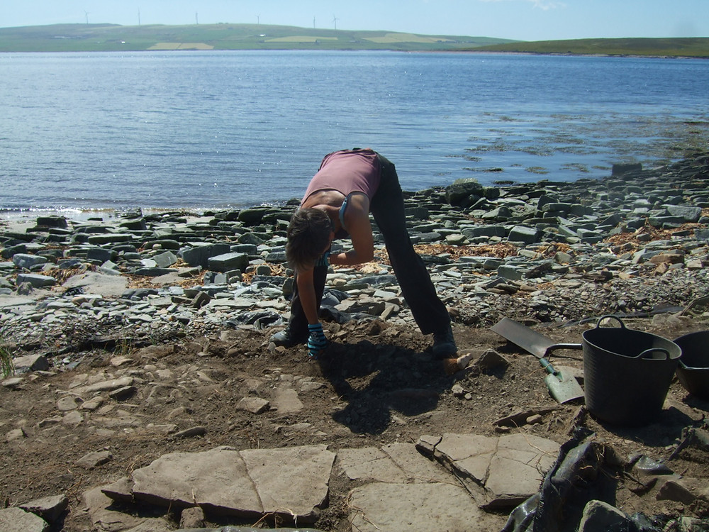 Jackie McKinley of Time Team fame showing we really did dig in sun tops at Swandro this summer!
