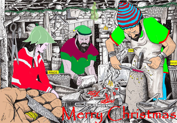 Merry Christmas Elves at Swandro, Orkney