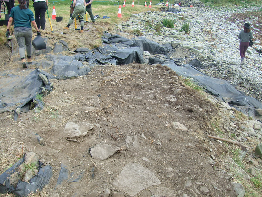 Area above the chamber of the tomb at Swandro being opened up