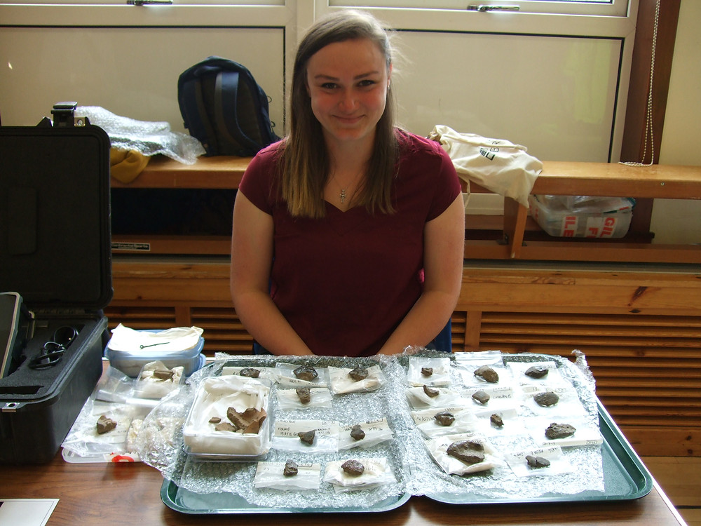 Rose with her collection of crucibles and moulds from Swandro