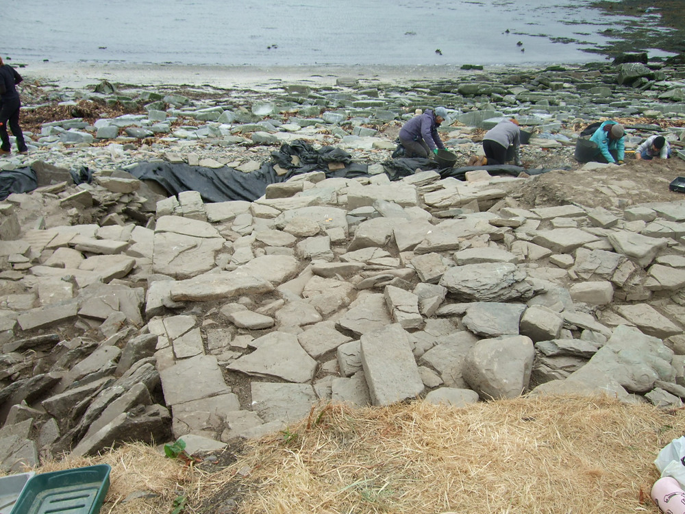 The outer wall of the chambered tomb at swandro