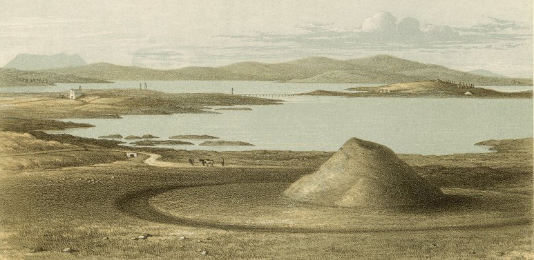 Maeshowe before excavation in the 19th century