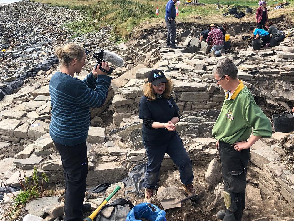 Digging for Britain filming at Swandro