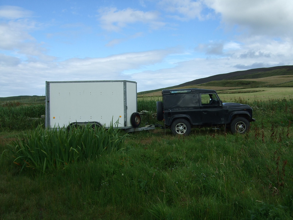 Finds trailer at Swandro, Orkney