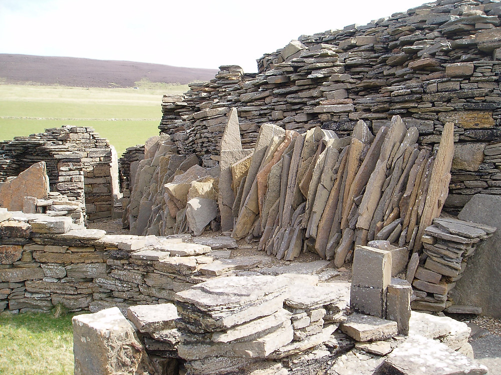 Midhowe Broch, Rousay just down the coast from Swandro