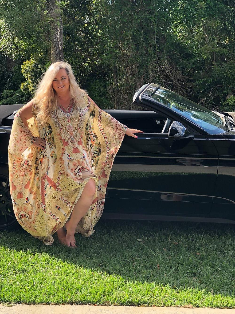 Debbie O-Mewes with car