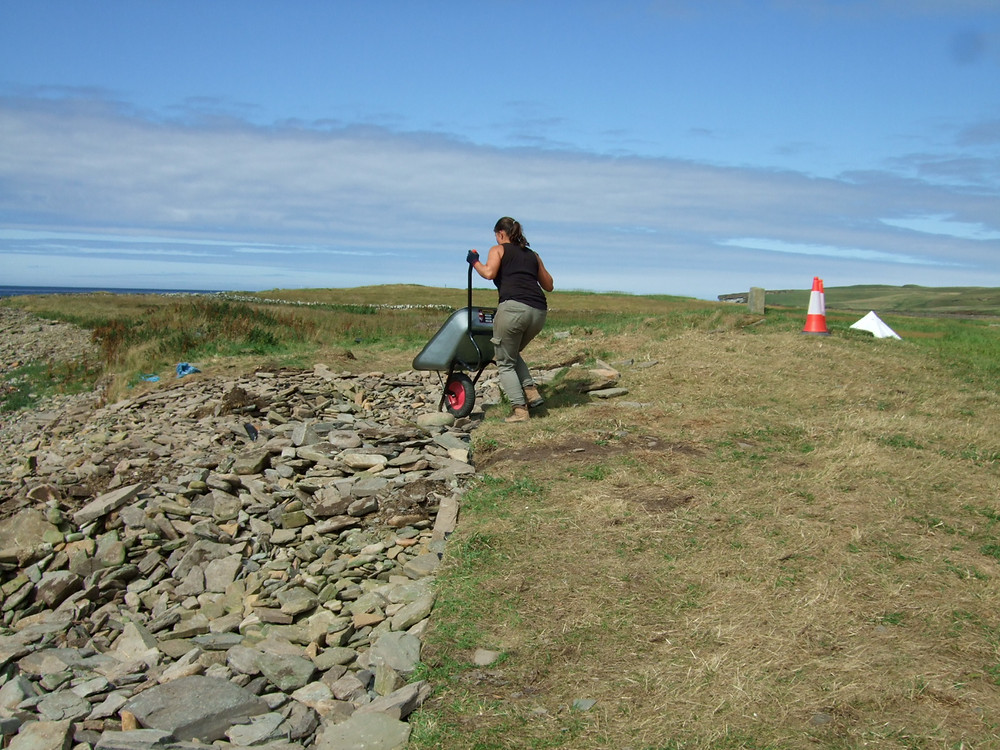 Last bit of backfill going in at Swandro