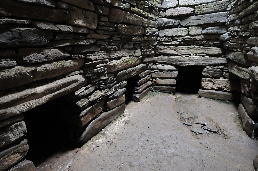 Interior of Quoyness chambered tomb