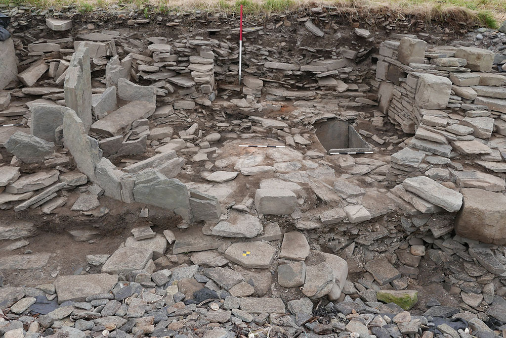 The Peedie Roundhouse at Swandro, Orkney complete with stone lined tank