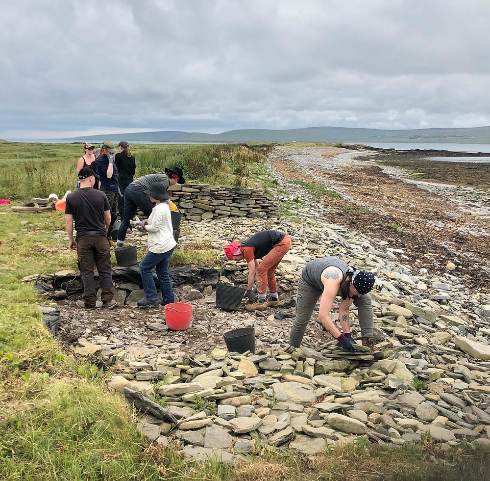Starting work uncovering the Pictish smithy at Swandro, Rousay, Orkney