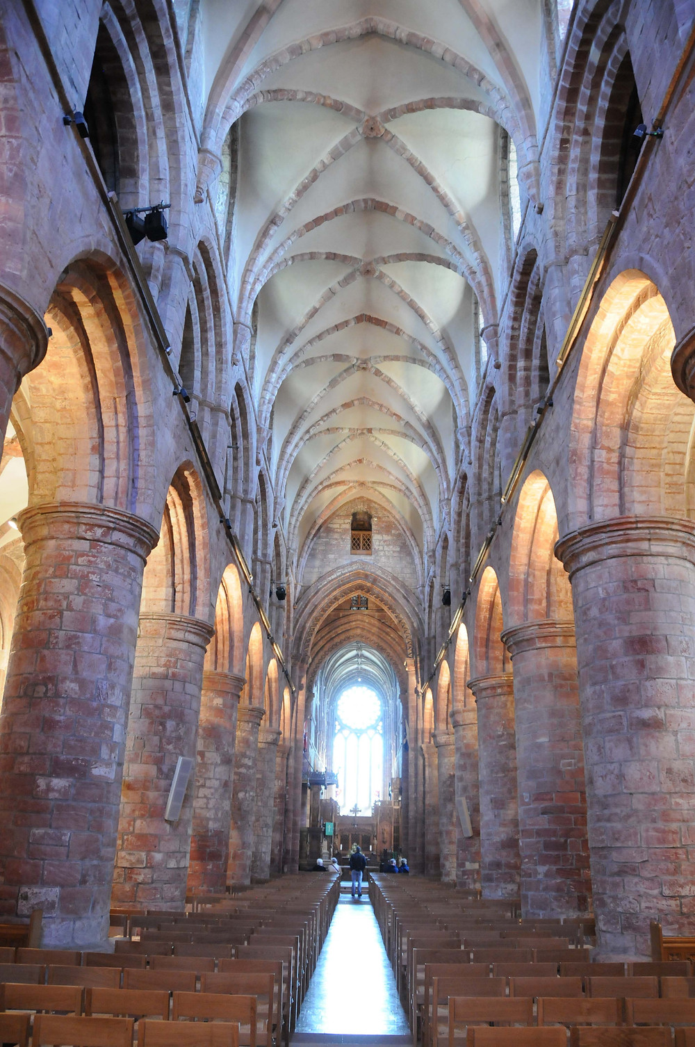 Interior of the 12th century St Magnus' Cathedral