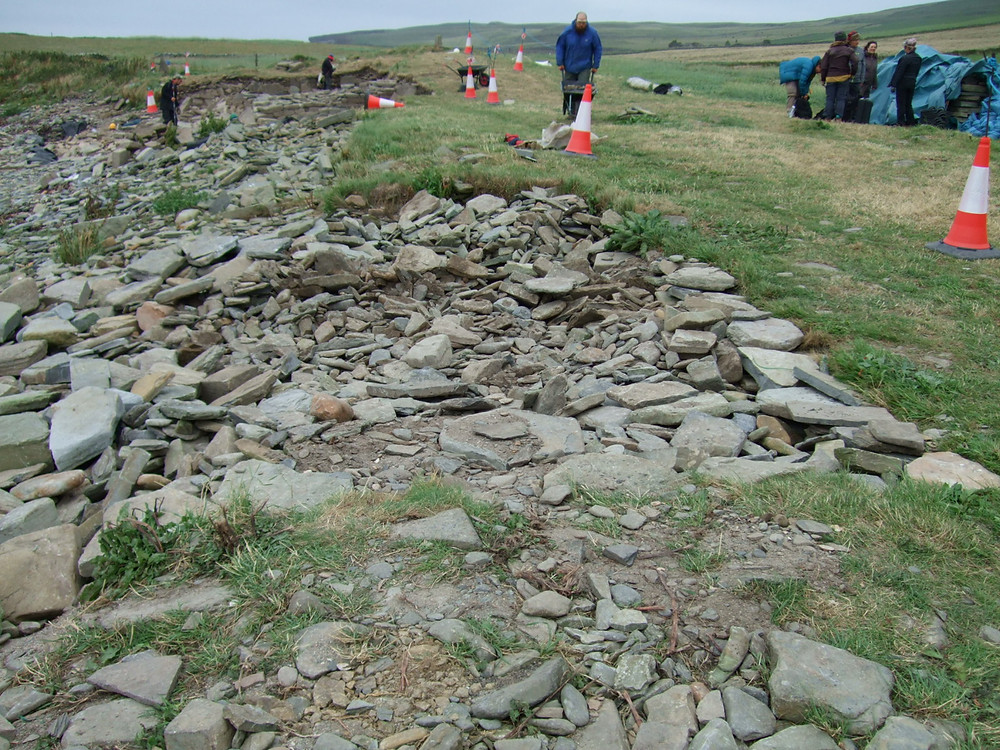 Pictish smithy site of the anvil at Swandro