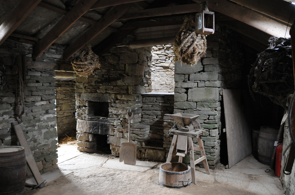 The drying kiln at Corrigall Farm Museum in Orkney