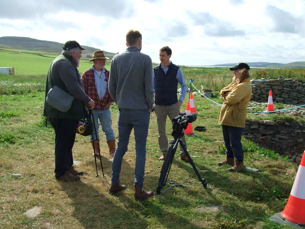 Radio Orkney visit Swandro to find out about our Pictish anvil