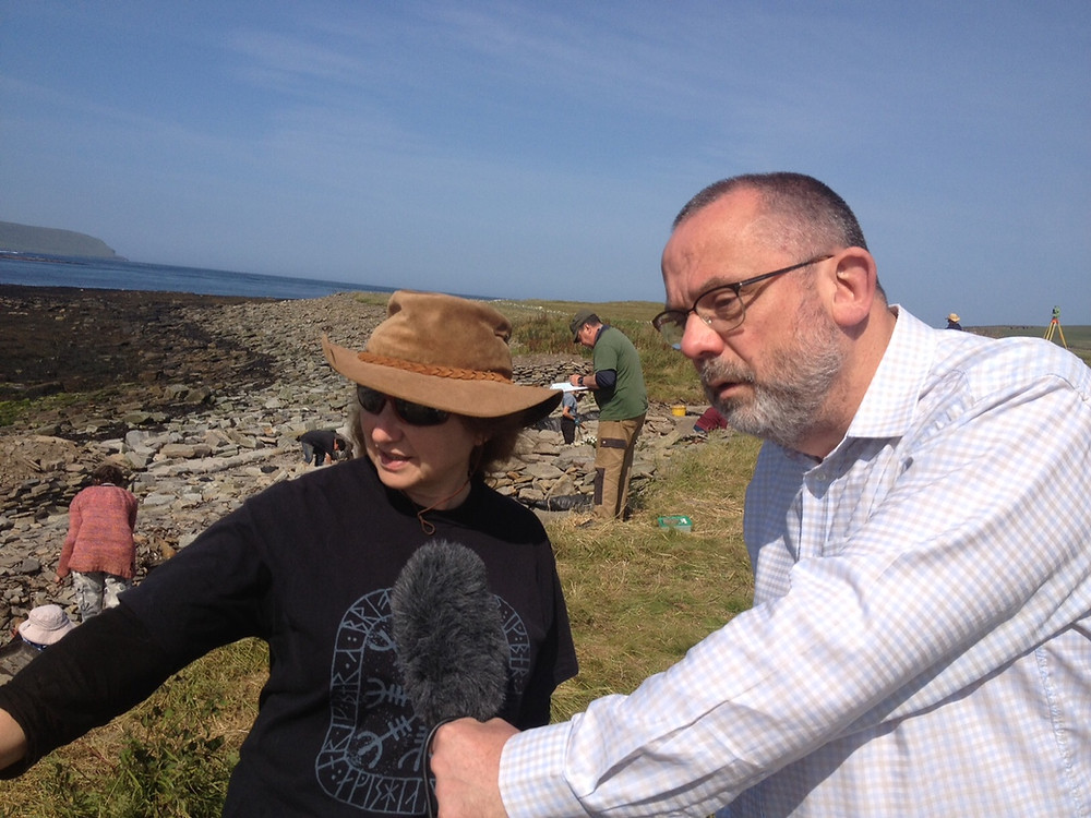 Radio Orkney visit to Swandro, Rousay