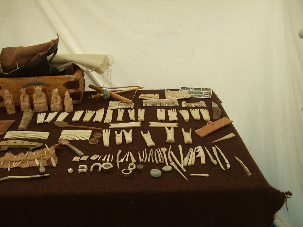 Replica Viking combs courtesy of our Living History re-enactors at Swandro