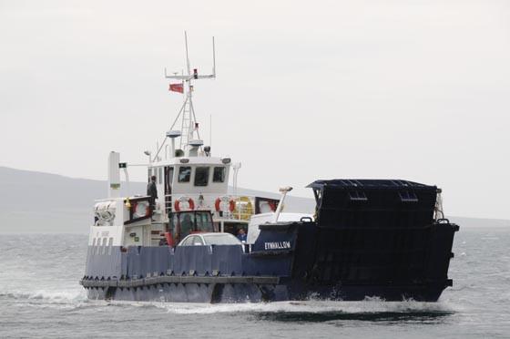 MV Eynhallow, the boat to Rousay