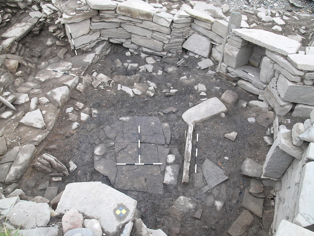 Overhead view of the smithy at Swandro