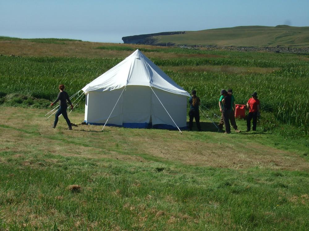 Our new tea hut tent