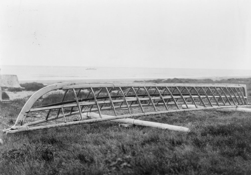 An umiak frame, Kotzebue, Alaska
