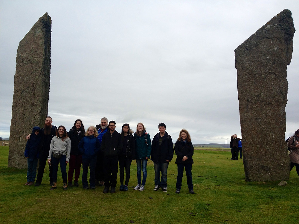 Team Swandro at the Stones of Stenness