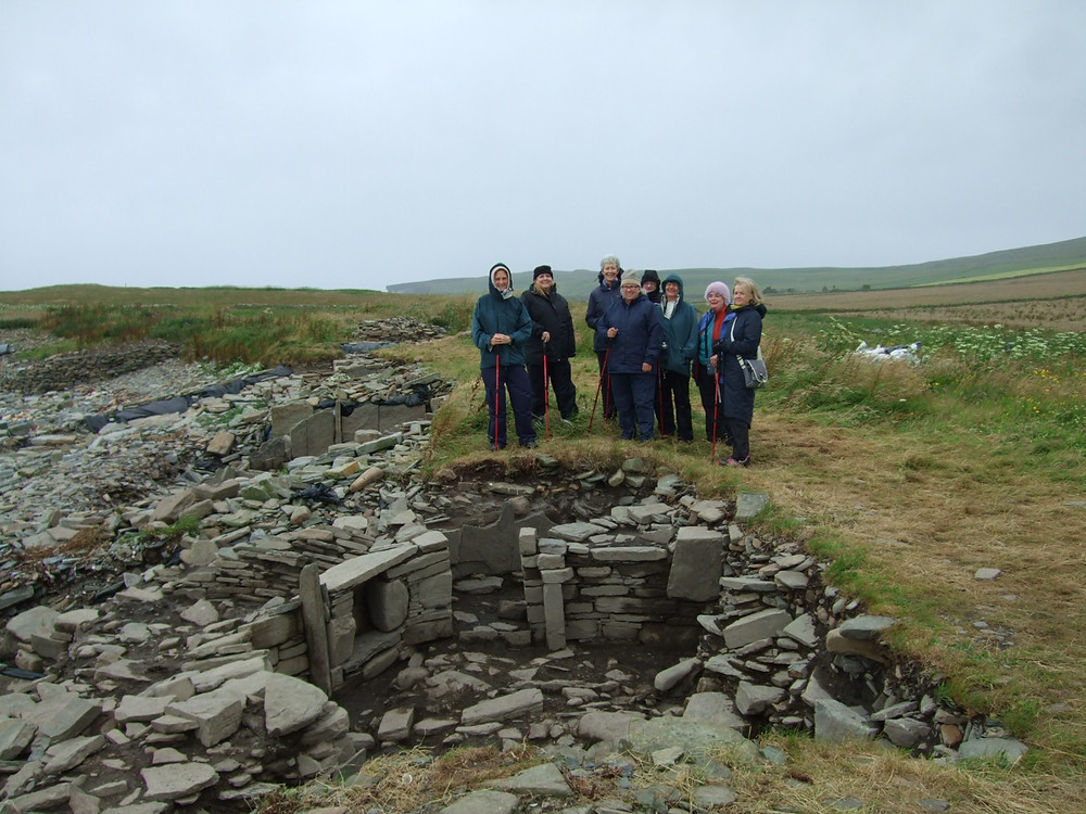 We welcome visitors to the site at Swandro, Rousay, Orkney