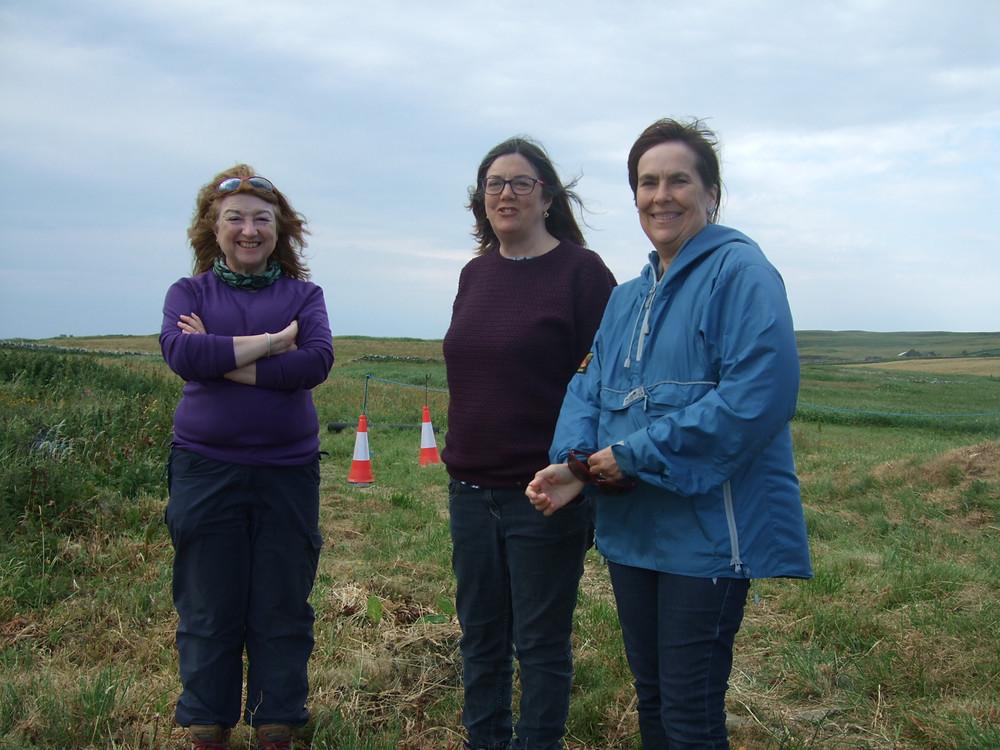 Left to right: Dr Julie Bond, Julie Gibson & Professor Jane Downes
