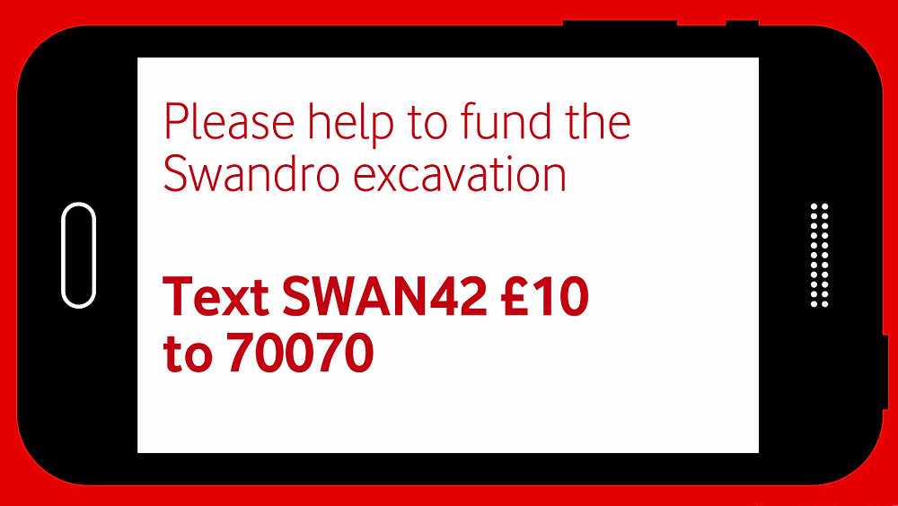 Donate by text to the dig at Swandro, Orkney