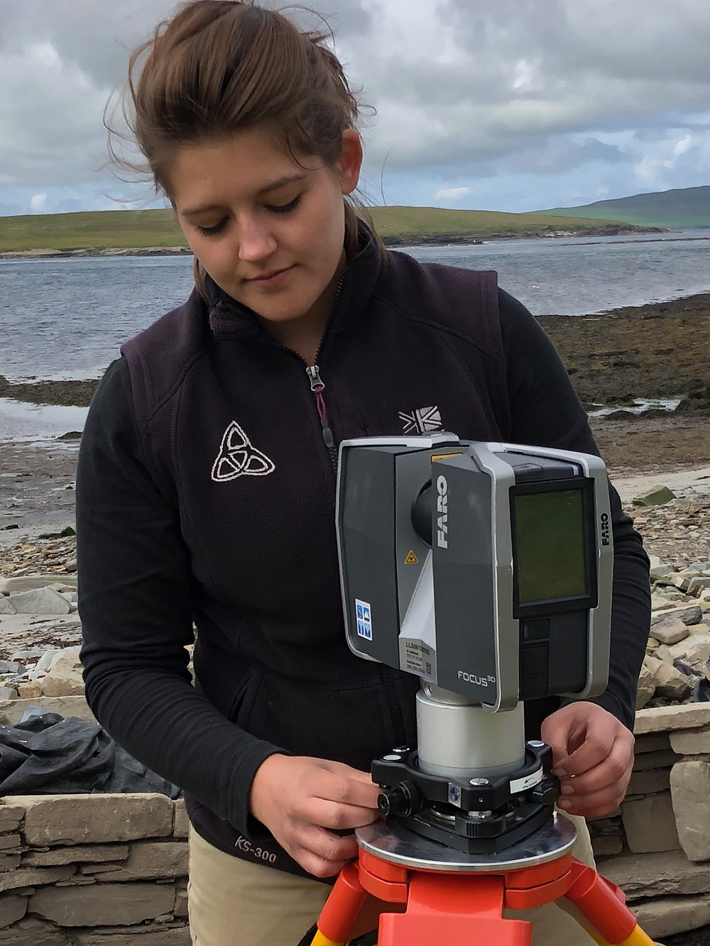 Laser scanning by Bonnie at Swandro