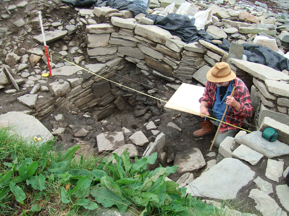 Alan Braby hard at work in the Pictish smithy at Swandro 2018