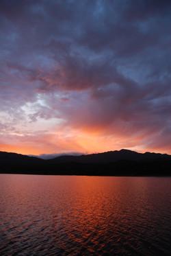 dramatic skies at lake pedder. photo - justin causby