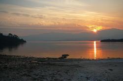 sunset at tedds beach 3 by Brett Brady