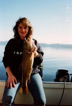 sharon with large trout 31.1.93
