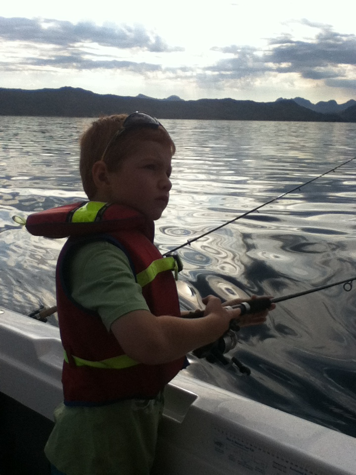 fishing on lake pedder