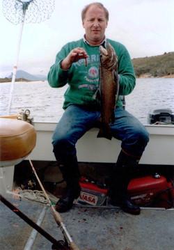 dad with fish 1st nov 1992